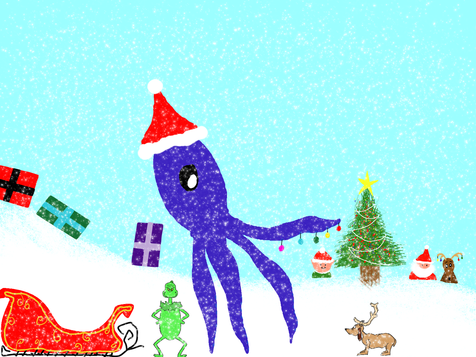 christmas squid from grade 9