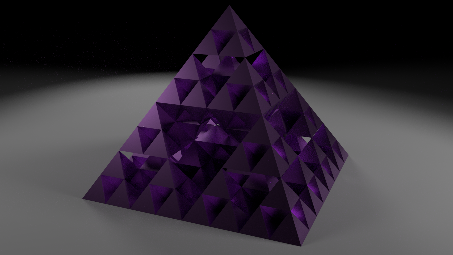 pyramid of purple or smthn